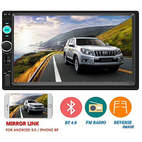 Upgraded Version Double Din Car Stereo 7 Inch Touch Screen in-Dash Head Unit MP5 Player USB FM Radio Car Audio Receiver Compatible with Bluetooth Support Backup Rear View Camera Mirror Link (Best 7 Inch Touch Screen Car Stereo)