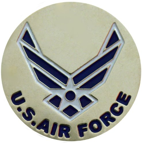 - Two Sided Air Force Golf Ball Marker with USA Hat Clip