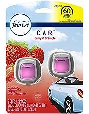 Febreze Car Air Freshener Vent Clips, Odor Eliminator, Berry & Bramble, 2 count