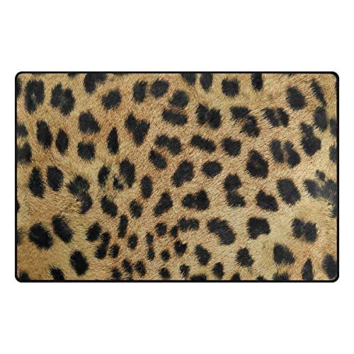 Personalized Leopard - Doormat Front Door Mats Outdoor Inside Mats Personalized Welcome Mats with Shading Leopard Print for Chair Mat and Decorative Floor Mat for Office and Home (15.7x23.6 inch)