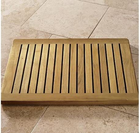 New Grade A Teak Wood 24 Door Shower Spa Bath Floor Mat WHAXFM