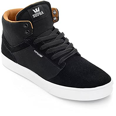 best sneakers 891b3 7f9a4 Supra Yorek Hi Shoes Black White Men s