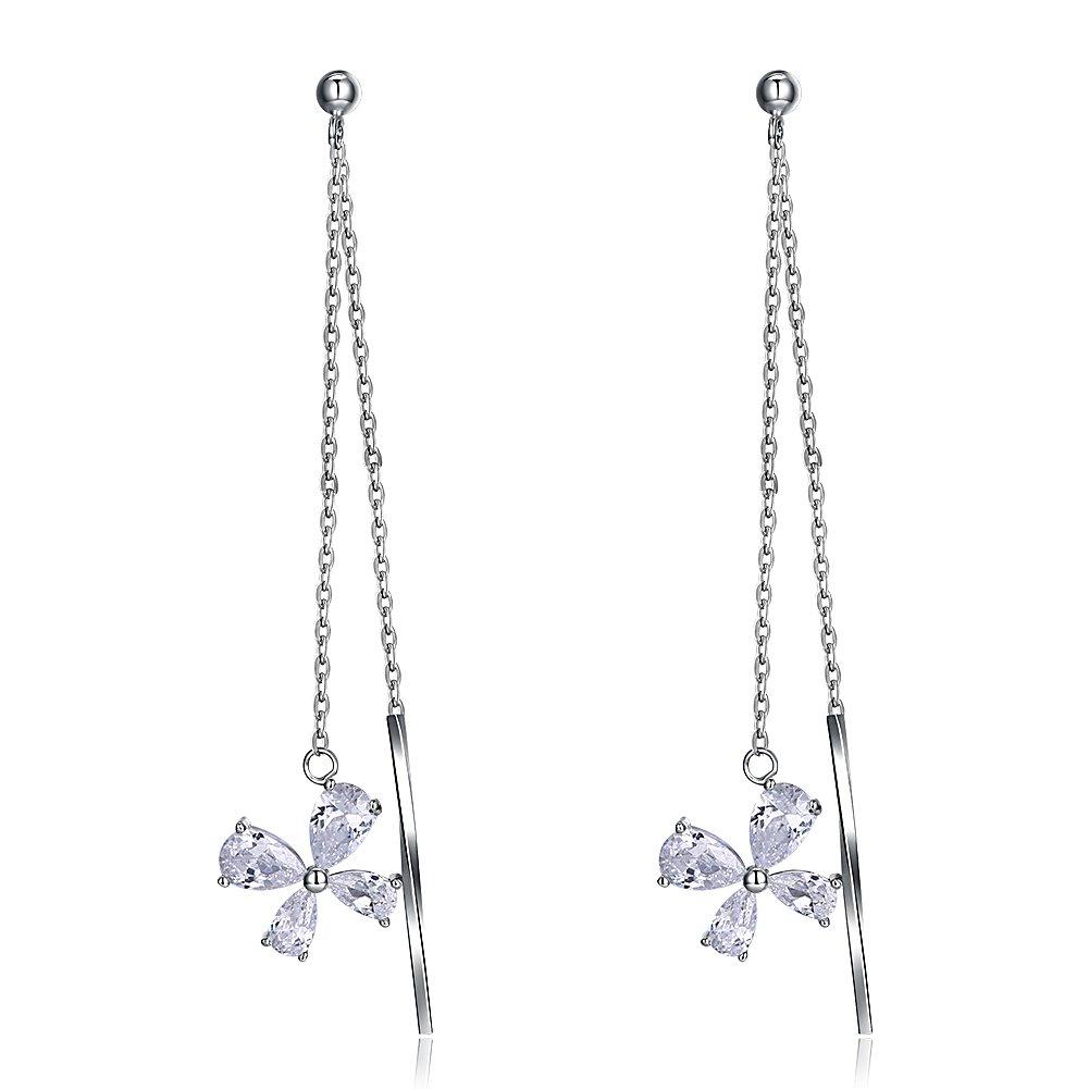 New Arrival S925 Sterling Silver Various Styles Cuff Chain Earrings Wrap Tassel Earrings Ear Lines Dangle Drop Earrings for Womens Girls
