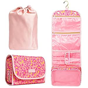 [IMPROVED] Bella's Gift Toiletry Bag - New Design Compact Hanging Travel Cosmetic Makeup Organizer for Women (pink)