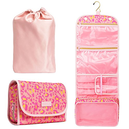 Hanging Toiletry Bag - TSA Approved Travel Kit for Women - F