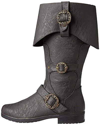 Caribbean Pirate Black Costume Boots (X-Large 14) -