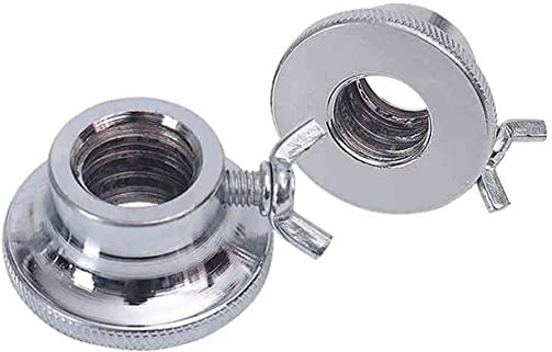BESPORTBLE Pair of Double Spinlock Collars For 1Inch Dumbbell Bars, 2.5cm Hex Nut - Dumbbell Bars Replacement Accessories