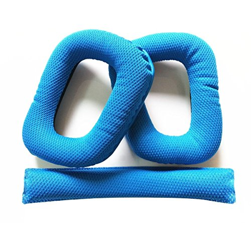 iParaAiluRy Replacement Earpads (1 Pair) + Spare Pillow (1 Piece) for G430 G930 Headphones - Blue
