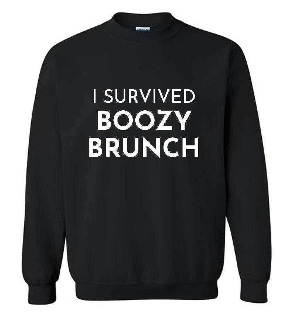 I Survived Boozy Brunch Shirt Mimosa Blackout Squad Sweatshirt