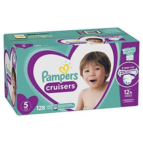 Diapers Size 5, 128 Count - Pampers Cruisers Disposable Baby Diapers, ONE MONTH SUPPLY (Packaging May ()