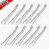 MUMENG 10X G4 Douille pour Ampoule Standard Adaptateur de Base Titulaire fil Socket Base de Connecteur avec Boîte de Jonction