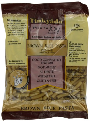 Tinkyada brown rice pasta nutrition information for Atkins cuisine penne pasta 12 oz 340 g