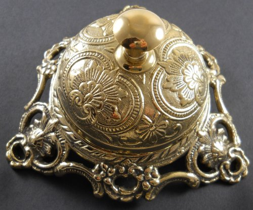 Ornate Solid Brass Hotel Counter Bell ()