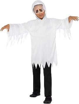 Halloweenia Disfraz de Fantasma para niños, Disfraz de túnica con ...