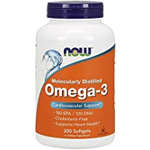 NOW Omega-3 1000mg, 200 Softgels