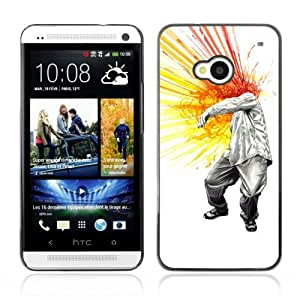 YOYOSHOP [Cool Head Explosion Painting] HTC One M7 Case
