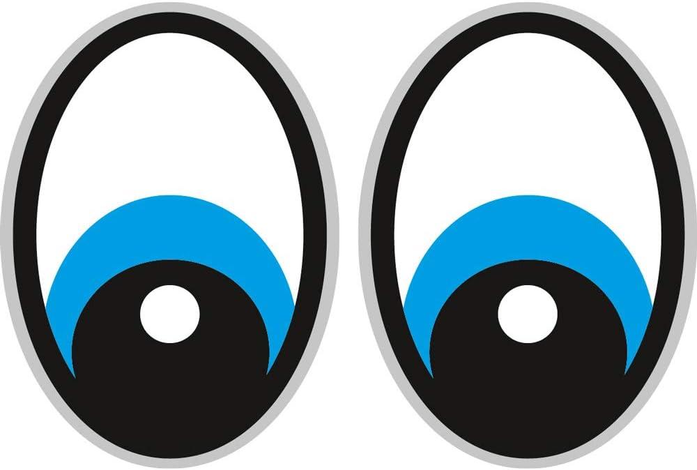 Augen Blau Saugroboter Aufkleber Staubsauger Roboter Sticker Eye Stickers Yeux Rasenmäher Mähroboter Bürobedarf Schreibwaren