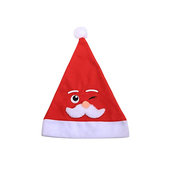 FENICAL Sombrero de Navidad Bordado Barba Blanca Sombrero de Papá Noel  Sombrero Lindo del Festival para 38e2b72bcb6