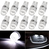 CCIYU 10 Pack T10 Wedge Samsung 2323 SMD 194 168 192 921 High Power 1W White LED Light Bulbs US