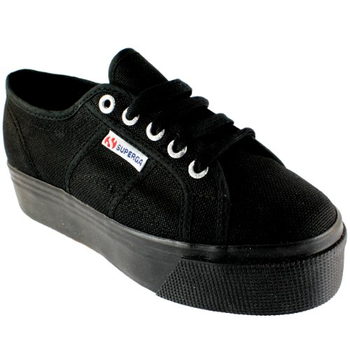 Pianoform Basso Superga Pattino Casuale Top Plimsoll Tela Formatori Donna 2790 Nero 41 wwpYf