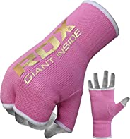 RDX Ladies Boxing Hand Wraps Inner Gloves for Punching – Women Half Finger Elasticated Bandages under Mitts Fi