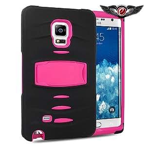 [ Samsung Galaxy Note Edge / N915 ] ToPerk (TM) Sonar RUGGED Stand Case & Stylus Pen As Bundle Sale - Pink/Black