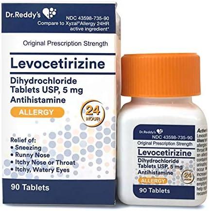 Generic Xyzal Levocetirizine Allergy Medicine