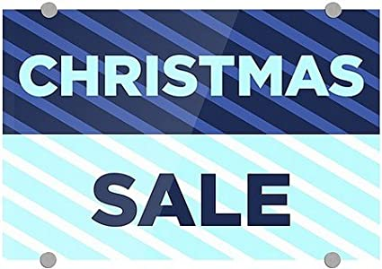 cgsignlab christmas sale stripes blue premium brushed aluminum - Amazon After Christmas Sale