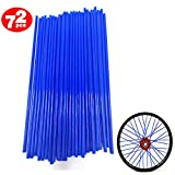 72Pcs/Lot Spoke Skin Covers, Movement Fashion Universal Protective Wheel Coil Wraps for Motorcycle Off-road SUV Bicycle (Dark Blue)