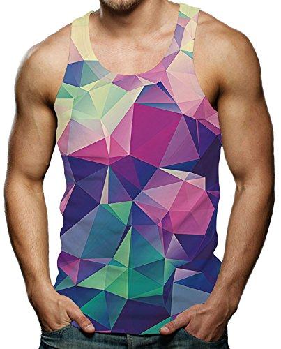 S Géométrie T Casual Gilet Motif 3d shirt Débardeur Hommes Funny Manches Imprimé Raisevern Cool xxl Sans OHqwUfxa