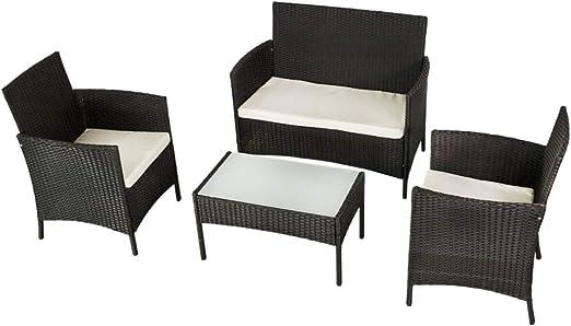 Aktive 61010 Conjunto muebles ratán para jardín, Multicolor: Amazon.es: Jardín