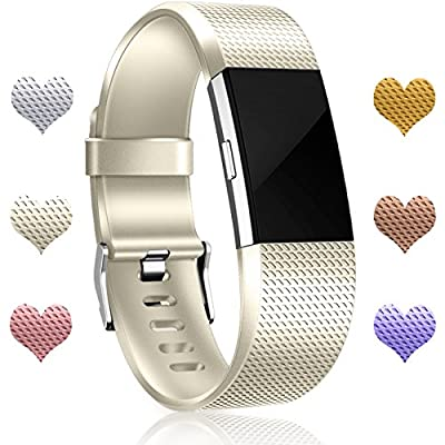 Wepro Bands Replacement for Fitbit Charge 2 HR, Small Large, 24 Different Colors