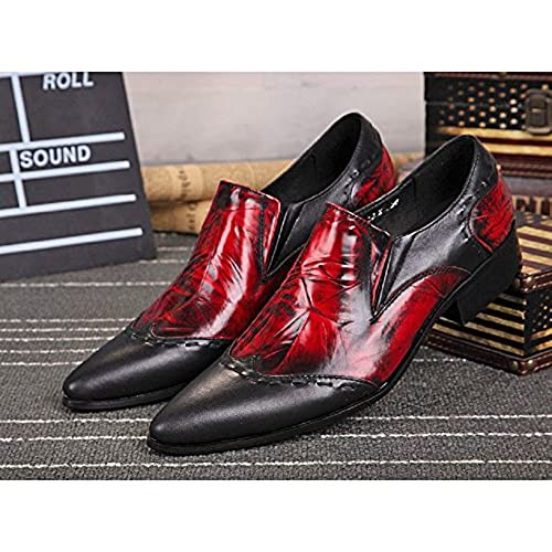 44c0c518fc5 70%OFF US Size 5-12 Vintage Red Leather Mens Dress Slip On Pointed ...