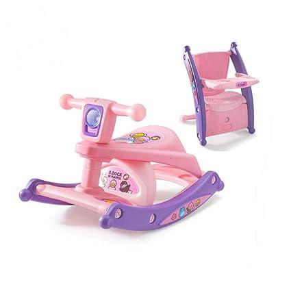 Mecedora infantil de plástico con diseño de caballo de balancín, ideal para regalar a bebés