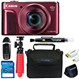 Canon Powershot SX720 (Red) + 12'' Tripod + 16GB Memory Card + Pixi-Basic Accessory Bundle