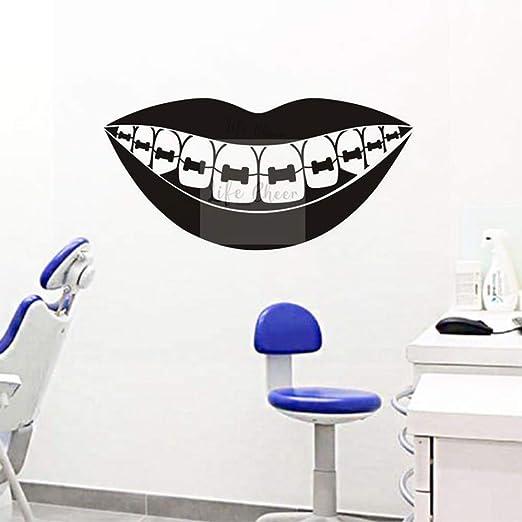 zqyjhkou Barces dentales Arte de la Pared Calcomanía Cuidado ...