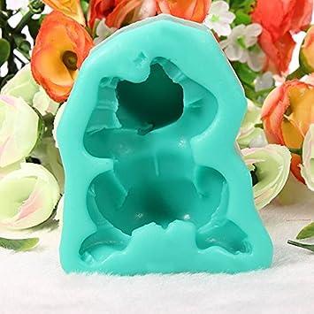 Amazon.com: [Free Shipping] Baby Lying On Front Cake Mold 3D Silicone Fondant Mould // Bebé acostado en molde de pastel frontal 3d de silicona molde ...