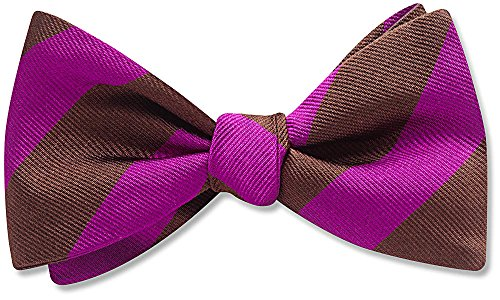 The Monte Carlo, Pink Striped bow tie, by Beau Ties Ltd of Vermont