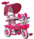 Amardeep Baby Tricycle with Parental Control, Pink
