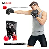 Boxing Reflex Ball with Headband – BONUS 6-Sided Reaction Ball & Guide Book - Improve Reaction Speed, Hand Eye Coordination, Boxing Agility with 02 Difficulty Level Silicon Headband Punching Balls
