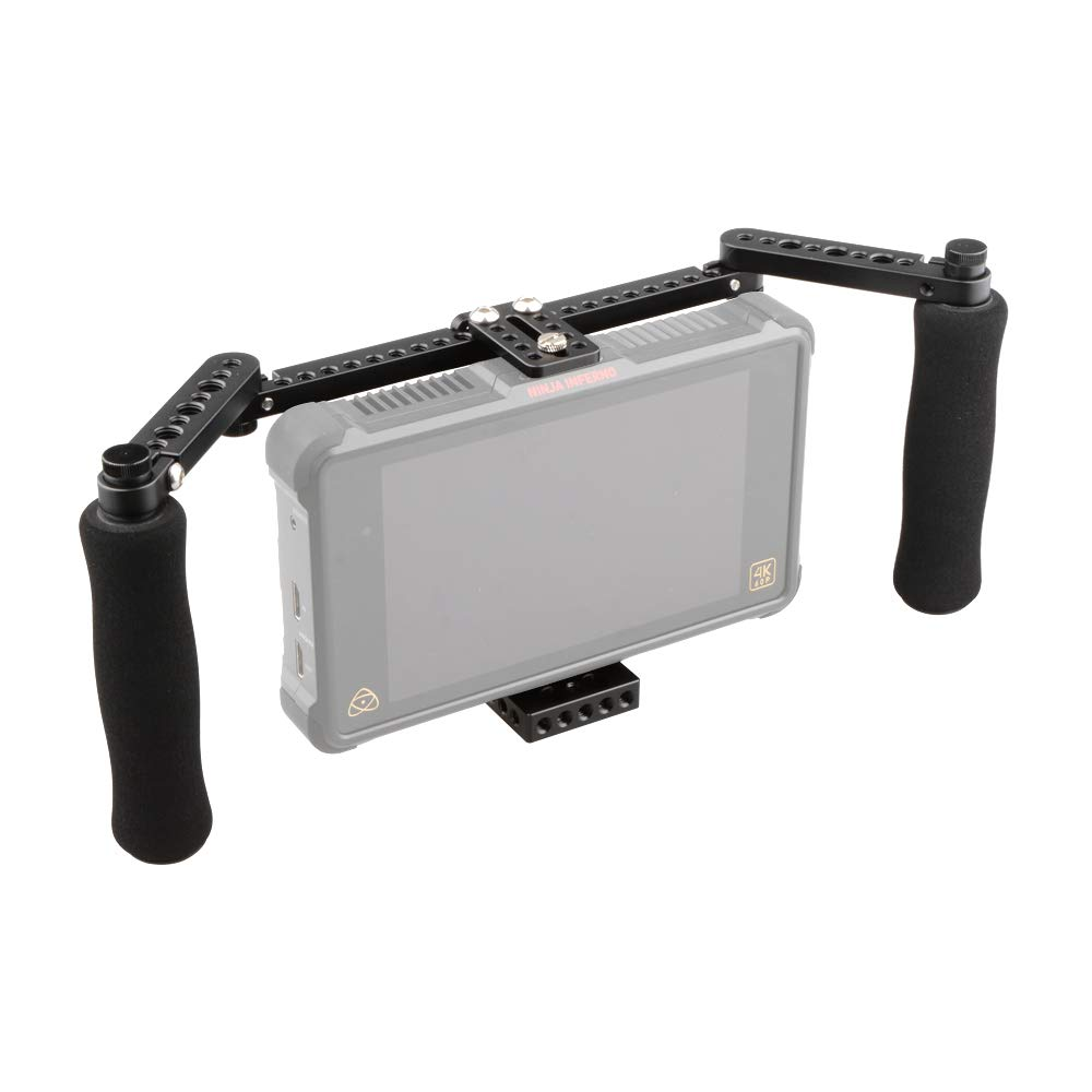 RISHIL WORLD C1871 Adjustable Stabilizer Cage with Dual Handle for 5 Inch 7 Inch Camera Monitor
