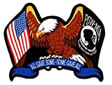 POW MIA & US Flag Eagle Wings Swag Embroidered Patch Iron Sew RPPM8439