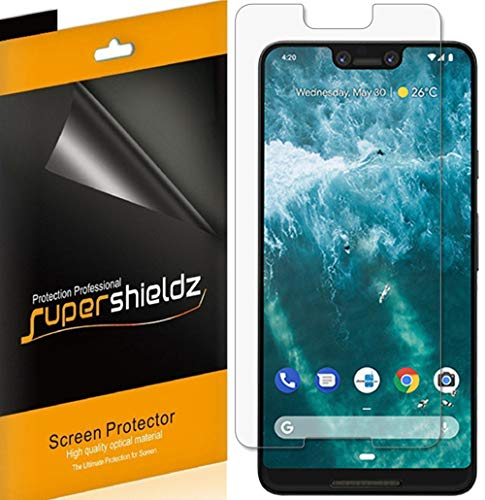 [6-Pack] Supershieldz for Google (Pixel 3 XL) Screen Protector, High Definition Clear Shield + Lifetime Replacements Warranty