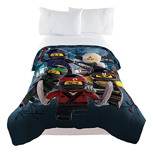 Poster Bedroom Full Bed - LEGO Ninjago Warriors Comforter, Twin/Full