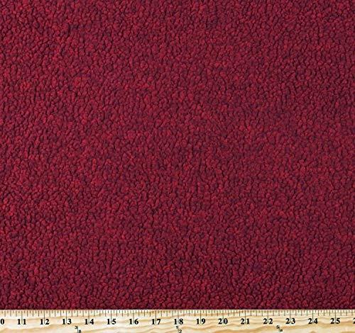 Berber Sherpa Malden Polartec Fabric by Malden Mills Burnt Red Heather 60