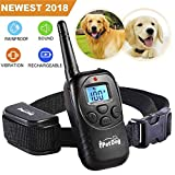 Fettish Dog Training Collar Rechargeable Rainproof 330 YD Remote Dog Shock Collar No Barking with LED Light/Beep/Vibration/Shock Safe Electronic Collar for Small Medium Large Dogs (Black) For Sale