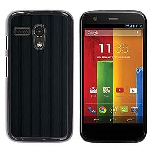 TopCaseStore / la caja del caucho duro de la cubierta de protección de la piel - Texture Black - Motorola Moto G 1 1ST Gen I X1032
