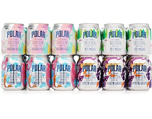 Jr Collection (Polar 100% Natural Seltzer Jr - 24 ct Variety Pack - The Impossibly Good Collection (Unicorn Kisses, Yeti Mischief, Mermaid Songs, Dragon Whispers))