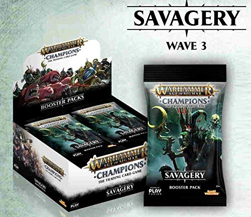 - Warhammer Age of Sigmar Champions TCG: Savagery Booster Display