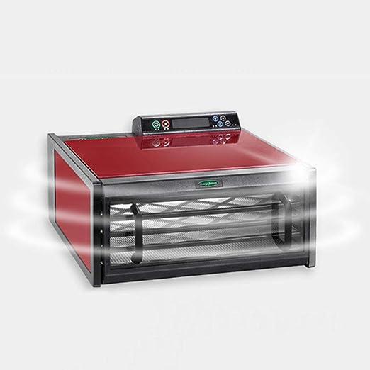 LIXHGJ Deshidratador de Frutas Digital, Temperatura Constante de la Temperatura eléctrica Secador Rojo de la verdura de la Bandeja 400W de 5 Capas: Amazon. ...
